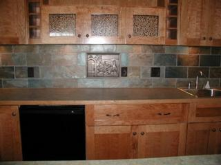 Natural Slate Backsplash