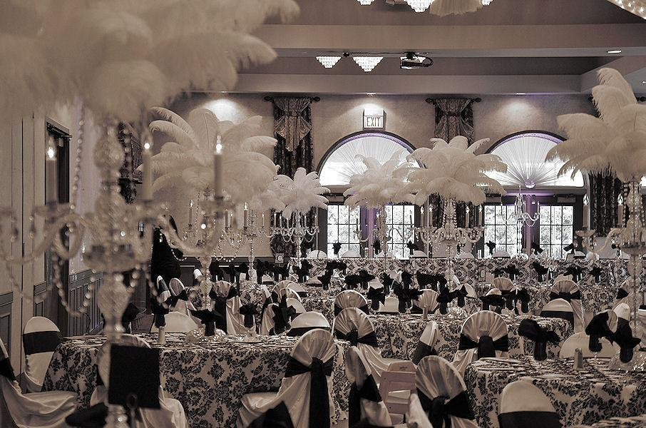 black and white wedding decorations romantic decoration