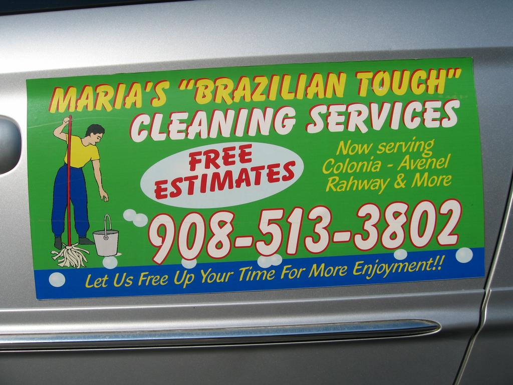 maria s ian touch cleaning service rahway nj  ads biz card signs 003