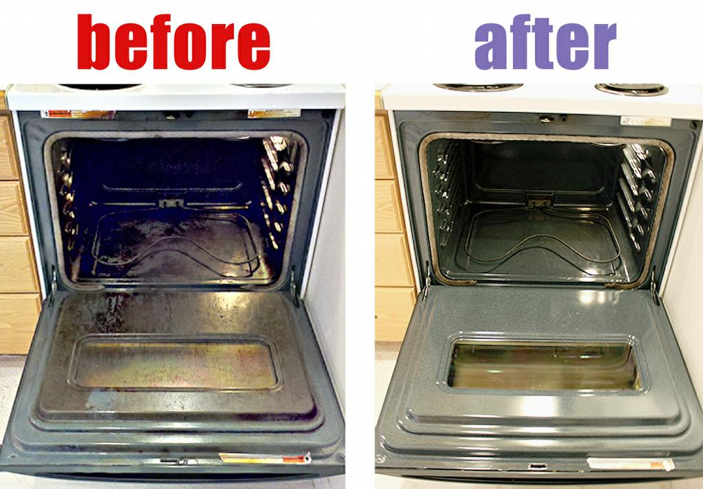 how to clean oven window before self cleaning