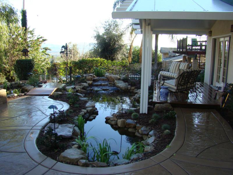 Pond And Patio From Landscape Designs By Lloyd Reichardt