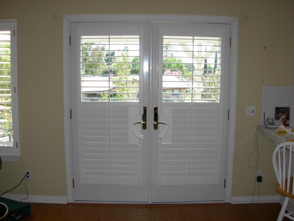 CWC-Shutters on french doors from Custom Window Coverings in Murrieta ...