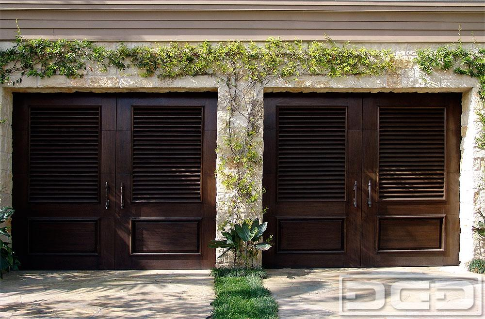 French mediterranean style garage doors in solid wood from for European garage doors