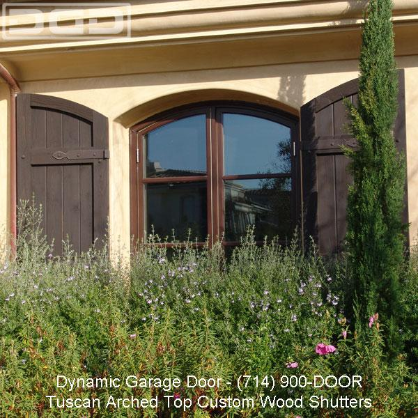 Custom Wood Shutters With Arched Top Design From Dynamic Garage Door European Wood Garage