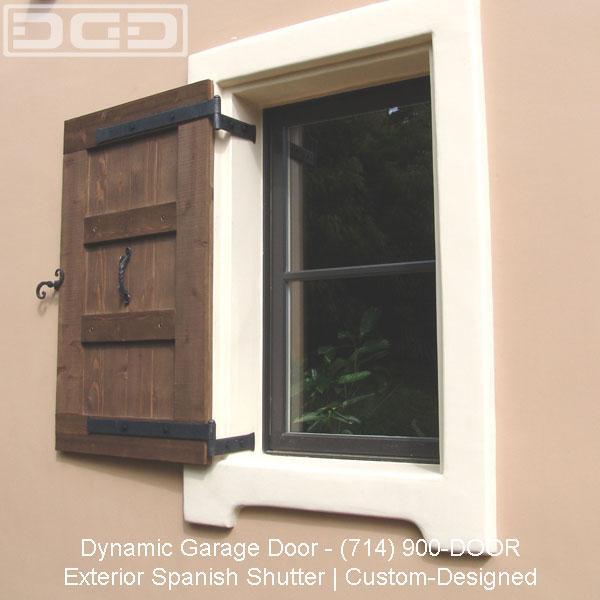 Spanish Colonial Window Shutter Design From Dynamic Garage