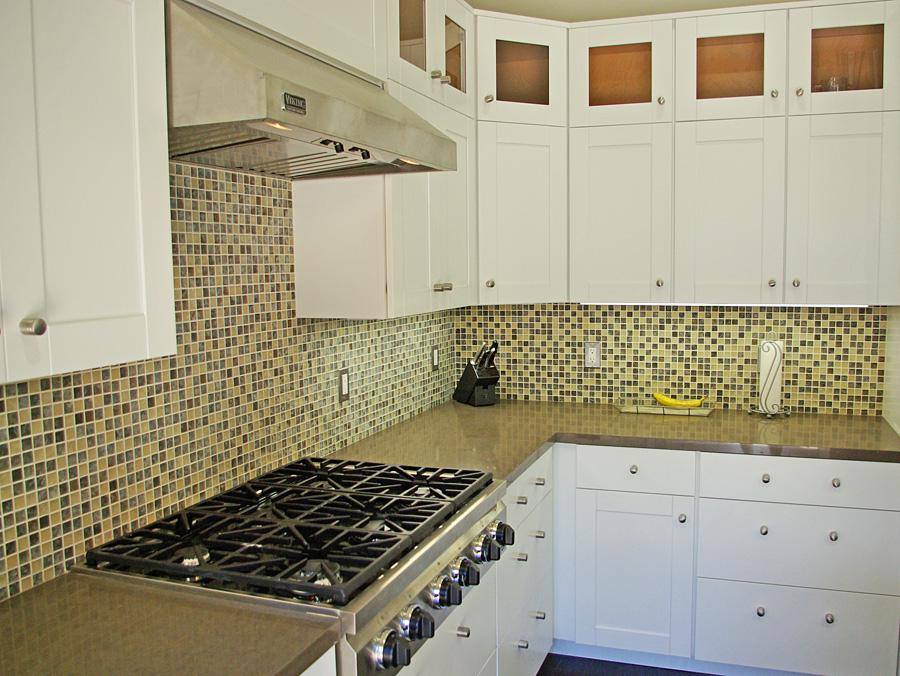 glass mosaic backsplash in belmont from continuum tile company in san