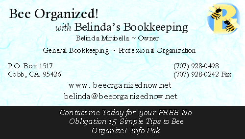 Beeorganized business card front from bee organized with belindas by bee organized with belindas bookkeeping reheart Choice Image