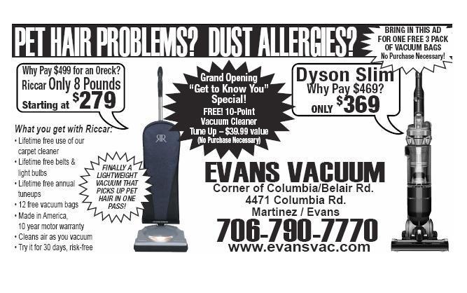 Evans Vacuum - Evans GA 30809   706-868-0371   Appliance Repair