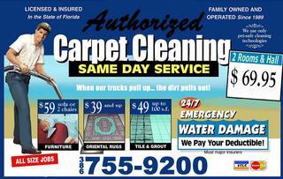 Authorized Carpet Cleaning - Lake City, FL