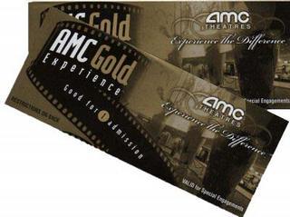 4 AMC Gold Experience Movie Ticket