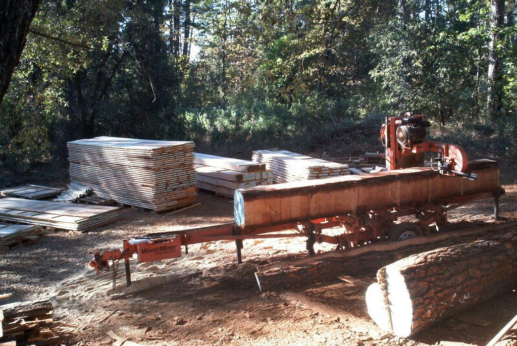 Ron trout portable sawmill service twain harte ca 95383 for Mill log