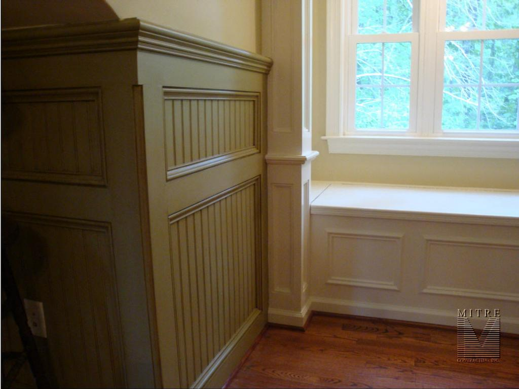 paneled beadboard wainscoting by mitre contracting inc