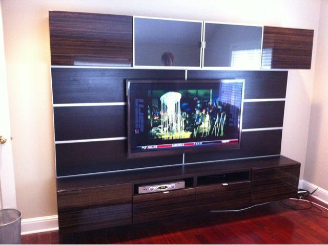 ikea Besta Floating unit completed on Staten Island from Furniture ...