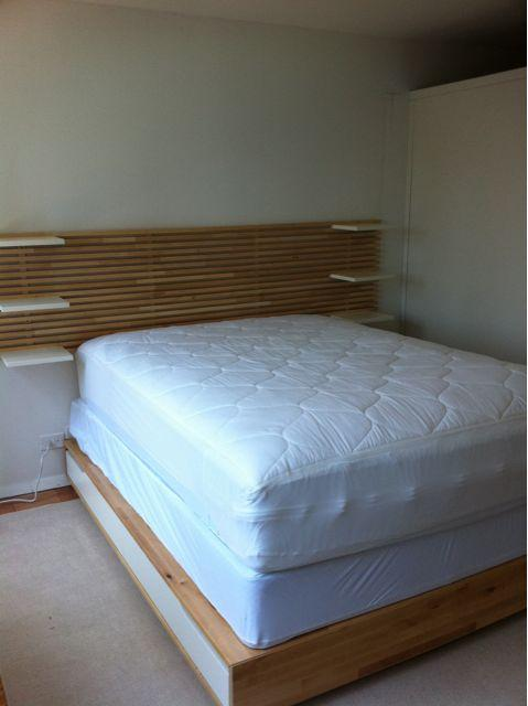 Ikea Aspelund Queen Bed Frame ~ Assembled and installed an Ikea Mandal Bed and headboard in Murry Hill