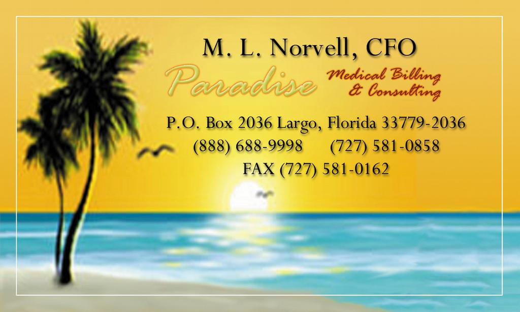 mnorvell-business-card-front from Paradise Medical Billing and ...