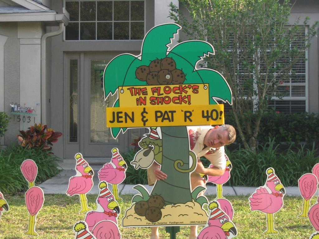 Flamingosfishhawk Largepigs By Birthday Lawn Signs