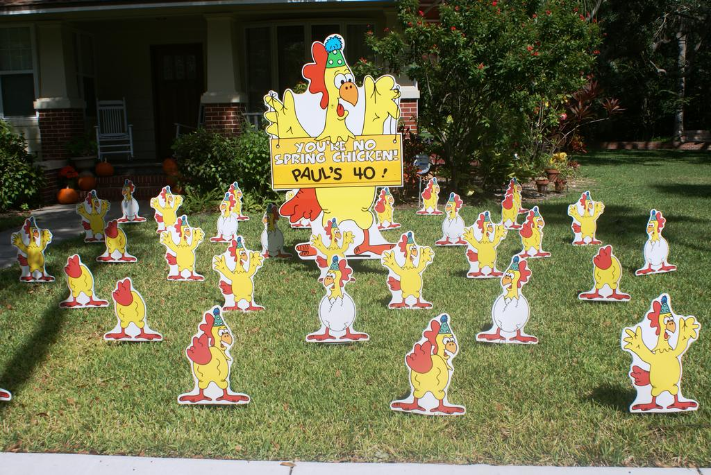 Pictures For Birthday Lawn Signs By Front Yard Smiles 8137777185