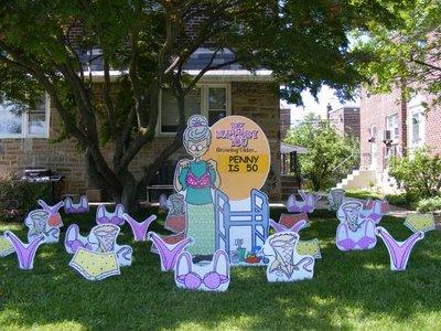Large Oldlady1 By Birthday Lawn Signs Front Yard Smiles 813