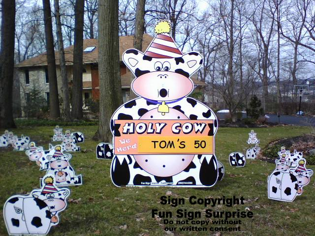 Largecows Large Chickens By Birthday Lawn Signs