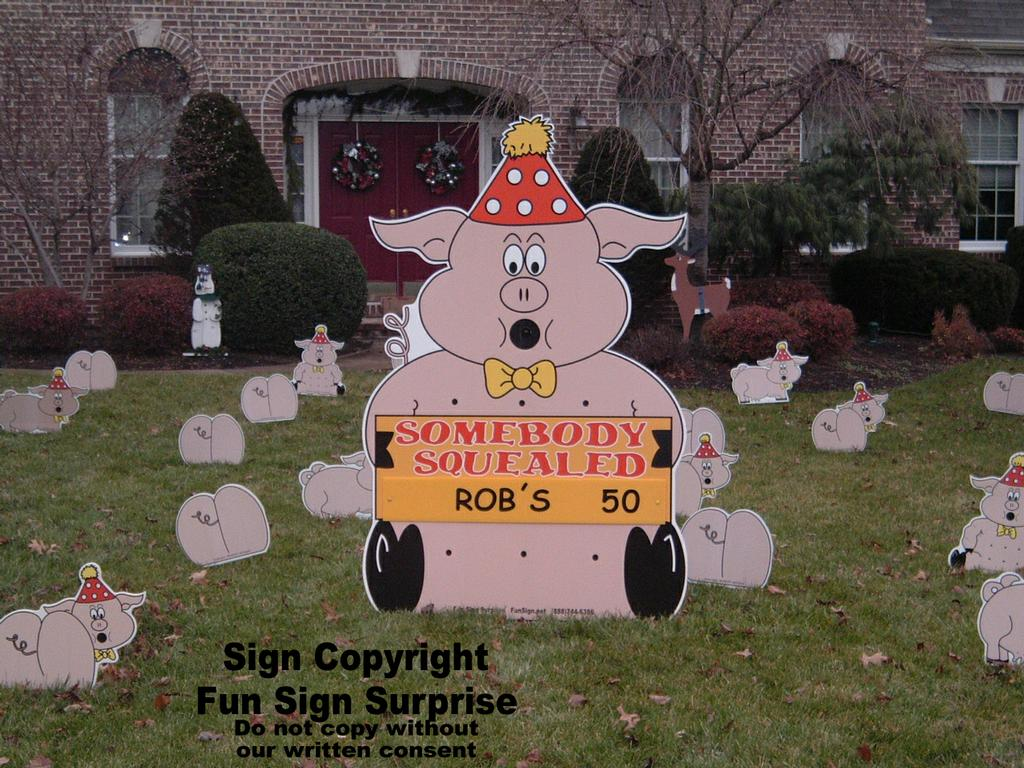 Largepigs Largecows By Birthday Lawn Signs
