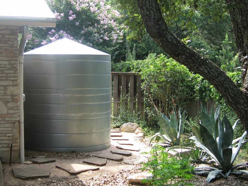 Rainwater Collection System Galvanized Metal