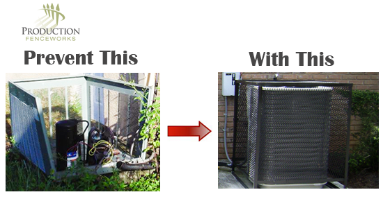 Home Depot Air Conditioner Cages : Privacy fence air conditioner conditioners