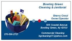 Business Card From Bowling Green Cleaning Janitorial In KY 42103
