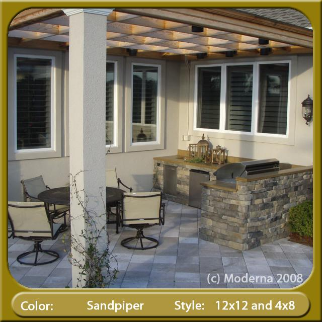 Ponte Vedra Outdoor Kitchen With Pavers From Moderna