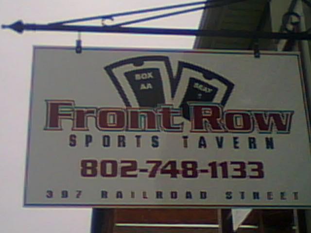 front row sports tavern saint johnsbury vt 05819 802. Black Bedroom Furniture Sets. Home Design Ideas
