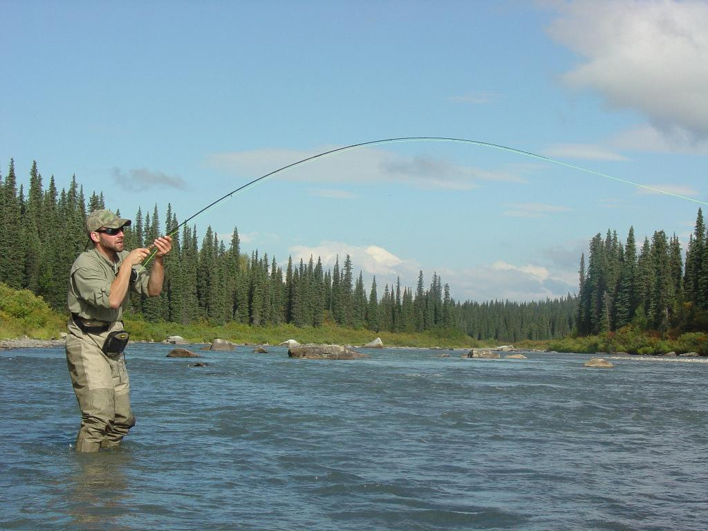 Fly fishing lake creek from wilderness place lodge in for Alaska fly fishing goods