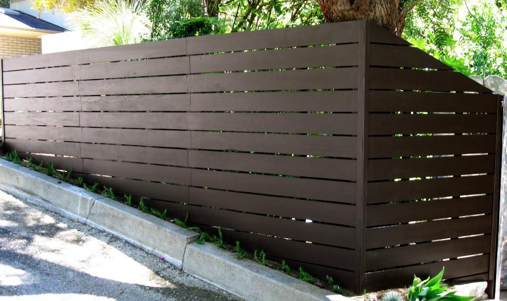 Modern Horizontal Fence From Harwell Fencing Amp Gates Inc