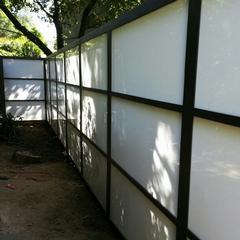 Modern Wood Plexiglass Fence And Gate Harwell Fencing