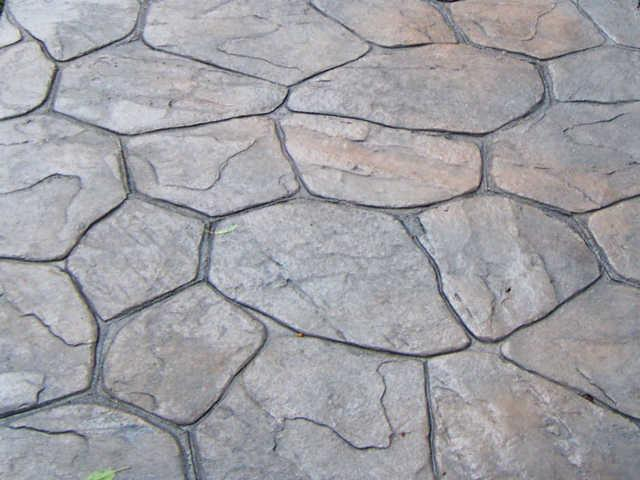 Random Stone Stamped Concrete From Castle Construction In