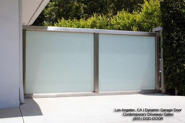 Modern Glass Automatic Driveway Gates Los Angeles Ca