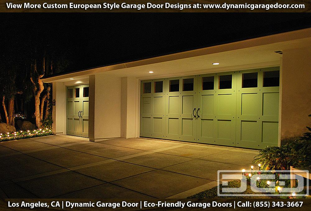 Green garage doors custom designed manufactured garage for Eco friendly doors
