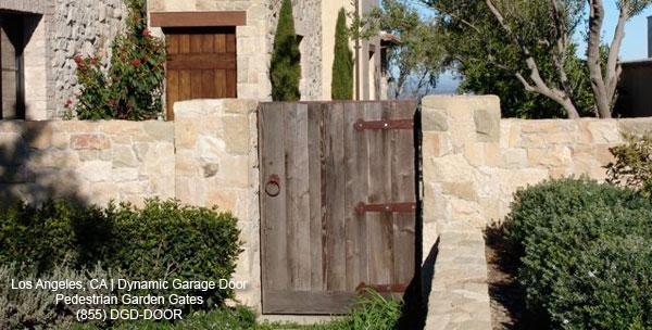 Reclaimed barn wood entry gate with architectural dummy for Salvaged wood los angeles
