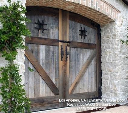 Reclaimed wood garage door design los angeles ca from for Reclaimed wood in los angeles