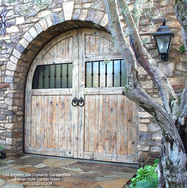 Rustic Tuscan Style Garage Doors Los Angeles Ca From