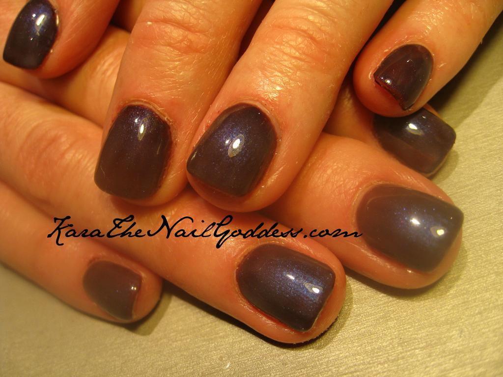 Description: Fedora & Neglige Shellac manicure on natural nails