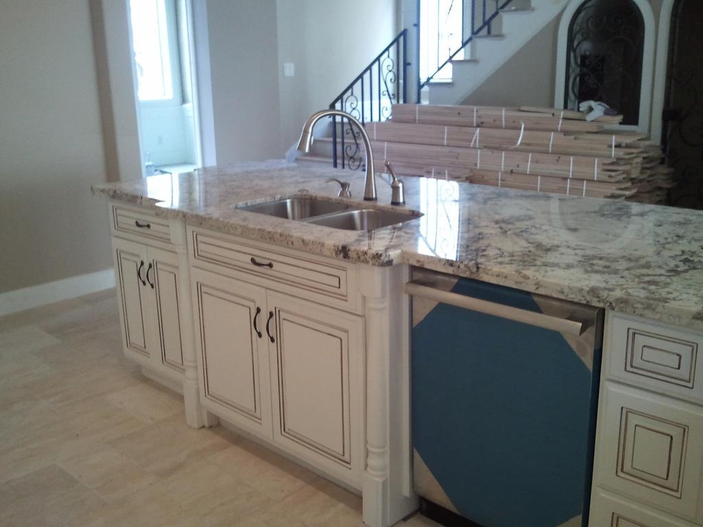 Granite Countertops By Stone Art Works DBA. Description: Bianco Blanco 2 CM  ...