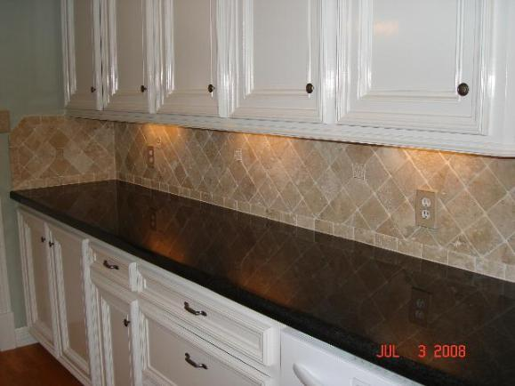 Travertine Backsplash From Stone Art Works Dba In Katy Tx 77450