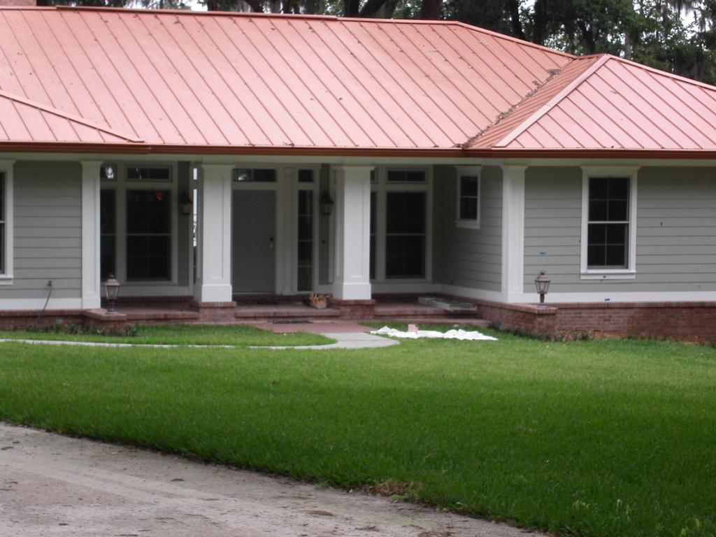Copper Roof House From Blue Bay Painting LLC In