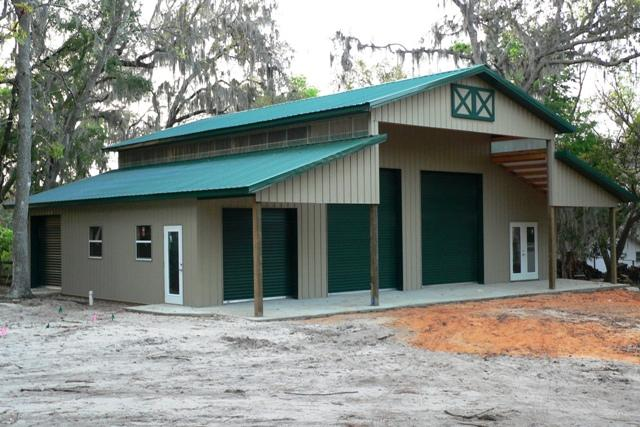 Lake house with shop groveland fl jpg from cornerstone for Building a shop house