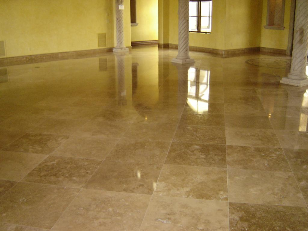 Travertine TIle Polish By All Stone Tile Wood Restoration