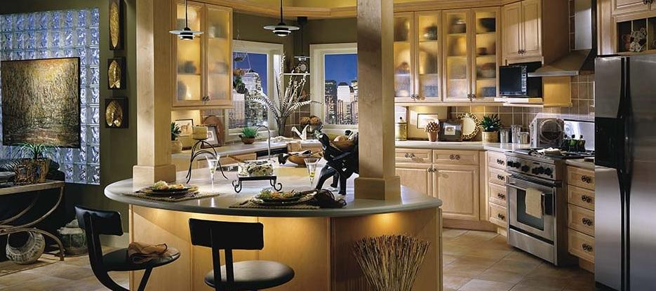 Full kitchen cabinets set from diamond kitchen bath inc for Full kitchen cabinet set