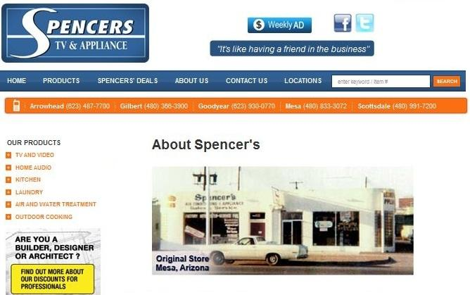 Pictures For Spencers Tv And Appliance In Gilbert Az 85296