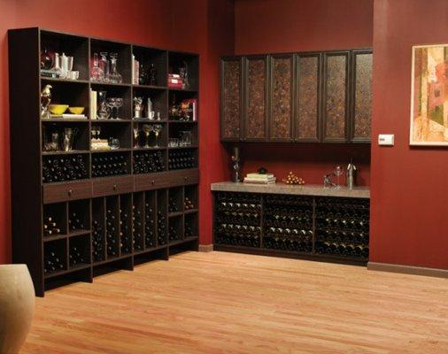 Venetian Wenge Wine Pantry With Bamboo Ring Eco Resin