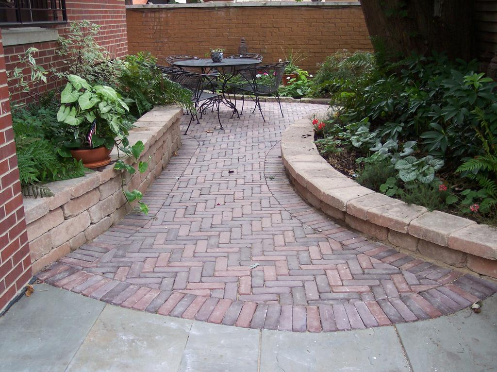 Paver Walkway And Border Beds From J J Landscaping In Chicago IL 60647