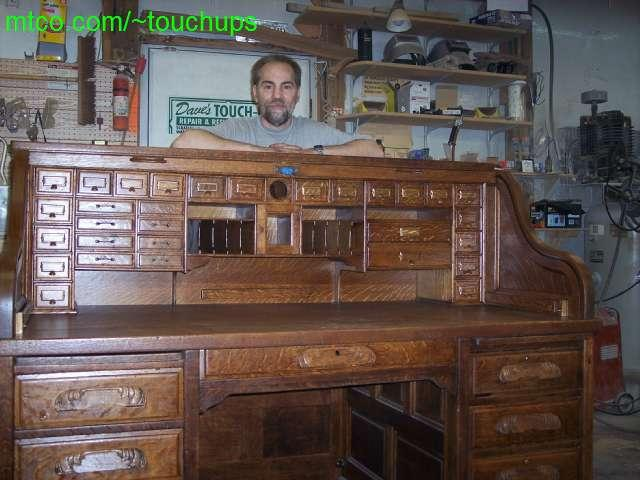 Antique Writing Table Rolltop Desk