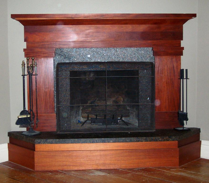 Cherry fireplace surround from Androscoggin Building and ...